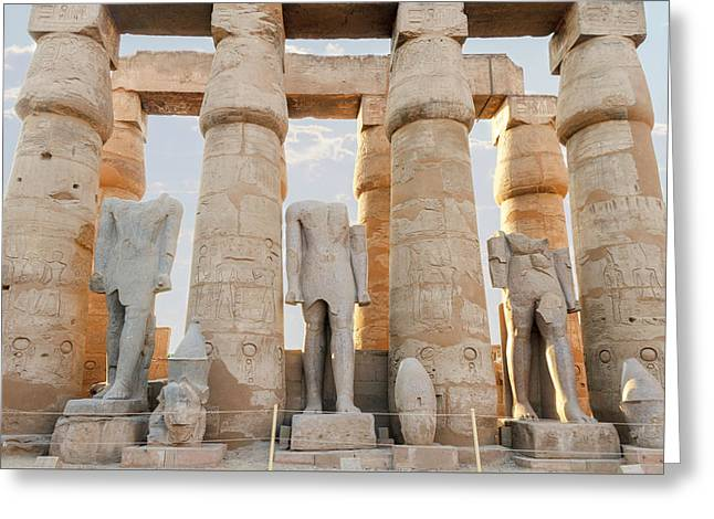 Greeting Card featuring the photograph Luxor by Silvia Bruno