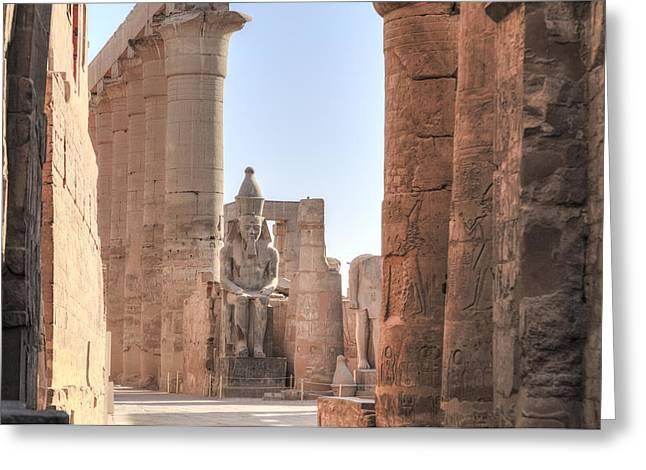 Luxor Temple - Egypt Greeting Card by Joana Kruse