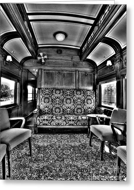 Luxury Lounge Car  Greeting Card by Paul W Faust - Impressions of Light