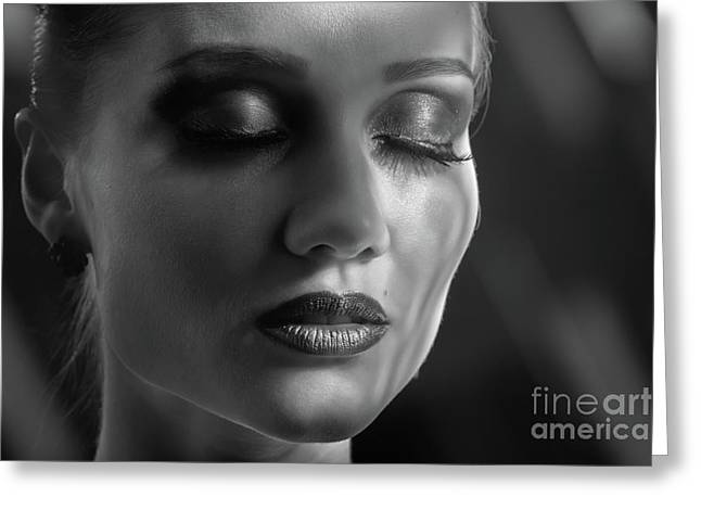 Luxury Professional Makeup Greeting Card by Aleksey Tugolukov