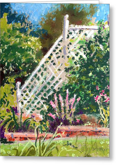 Lythrum And Ivy Greeting Card by Bill Meeker