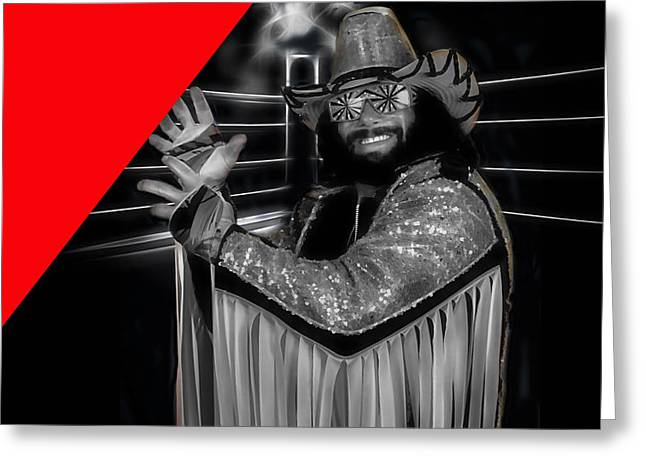 Macho Man Randy Savage Collection Greeting Card