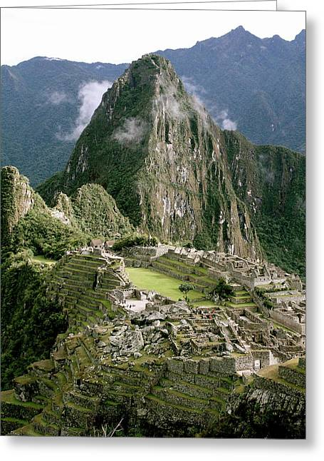 Machu Picchu At Sunrise Greeting Card