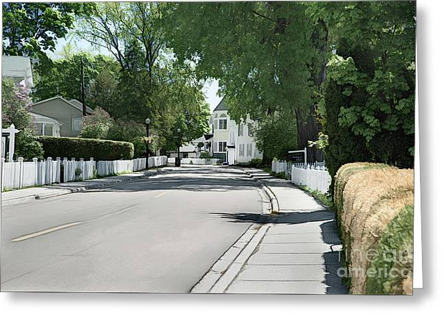 Mackinac Island Street  Greeting Card