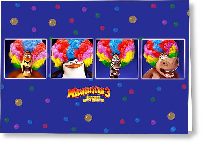Madagascar 3 Europe's Most Wanted Greeting Card
