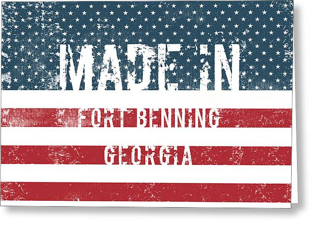 Made In Fort Benning, Georgia Greeting Card