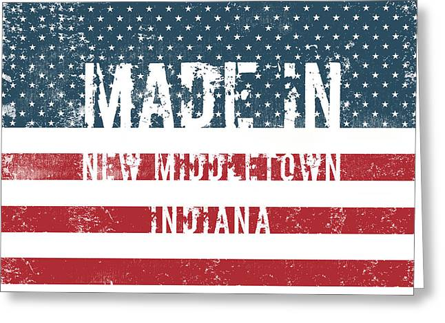 Made In New Middletown, Indiana Greeting Card