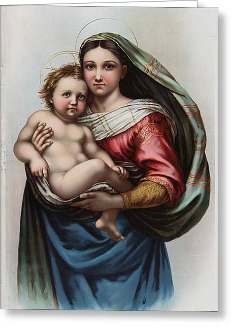 Madonna Greeting Card by Celestial Images