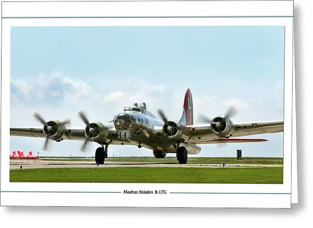 Madras Maiden B-17  Greeting Card