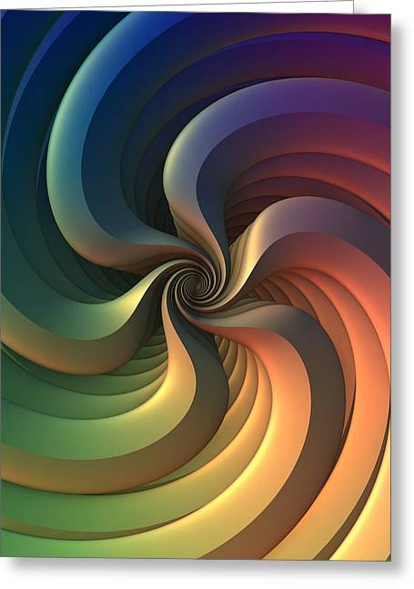 Greeting Card featuring the digital art Maelstrom by Lyle Hatch