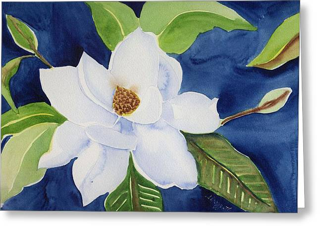 Magnolia Greeting Card by Janet Doggett