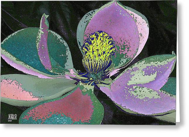 Magnolia Greeting Card by Michele Caporaso