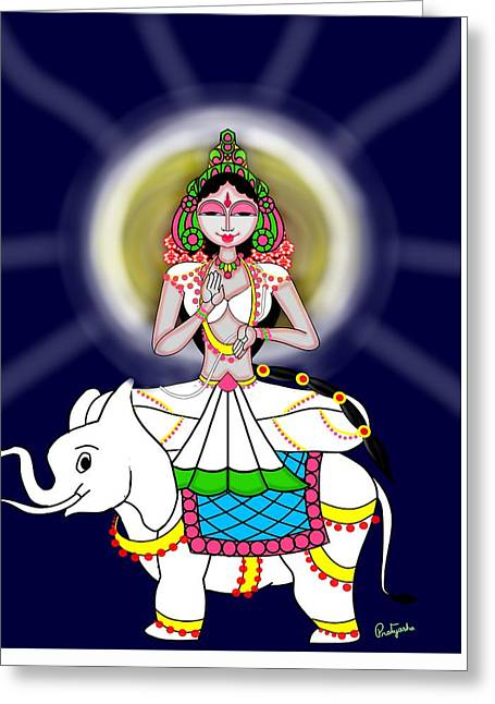 Mahagauri Greeting Card by Pratyasha Nithin