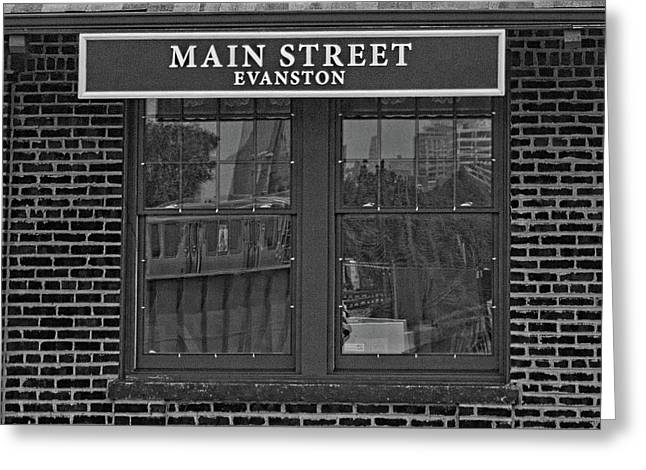 Main Street Station Greeting Card by Michael Flood