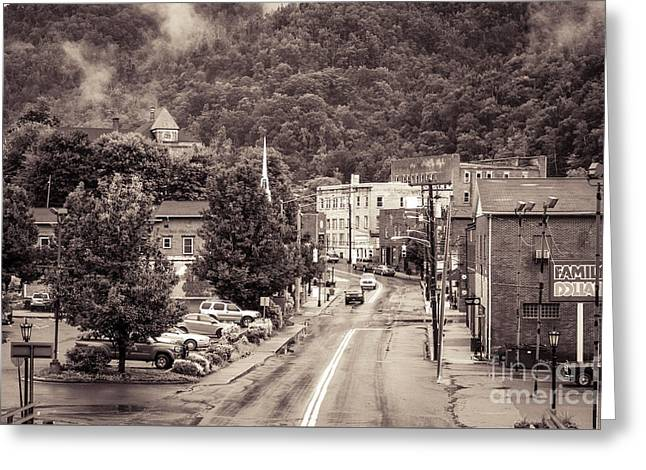 Greeting Card featuring the photograph Main Street Webster Springs by Thomas R Fletcher