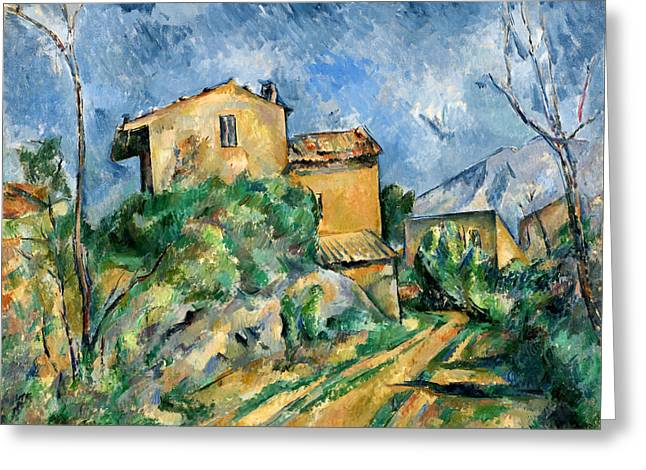 Maison Maria On The Way To The Chateau Noir Greeting Card by Paul Cezanne