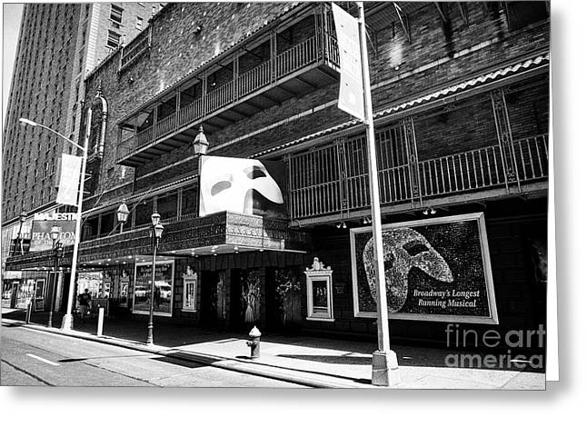 The majestic theatre greeting cards fine art america majestic theatre with phantom of the opera new york city usa greeting card m4hsunfo