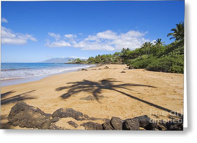 Makena, Changs Beach Greeting Card by Ron Dahlquist - Printscapes