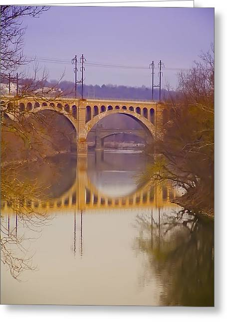 Manayunk Bridge Greeting Card by Bill Cannon