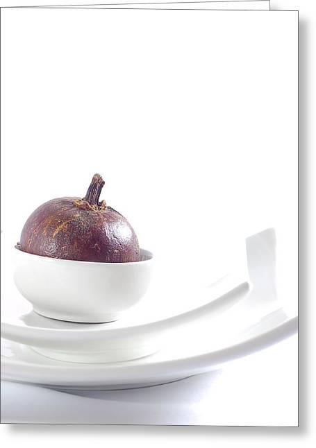 Mangosteen Greeting Card by Evia Nugrahani Koos