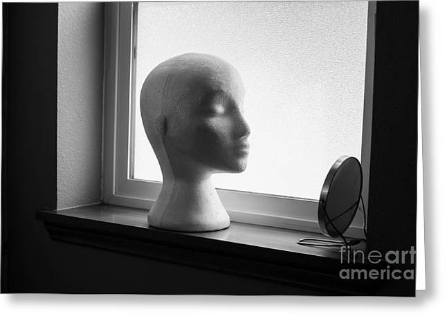 Mannequin With Mirror Greeting Card by Jim Corwin