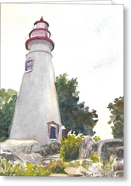 Marblehead Lighthouse Greeting Card by Terri  Meyer
