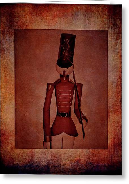 Marching Soldier Greeting Card by Lesa Fine