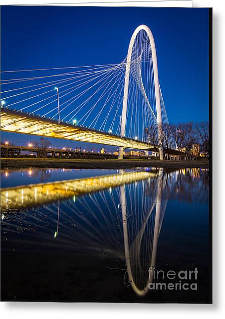 Margaret Hunt Hill Bridge Greeting Card by Inge Johnsson