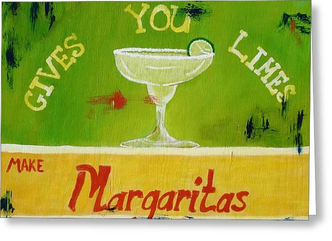 Margaritas Greeting Card by Amanda Clark