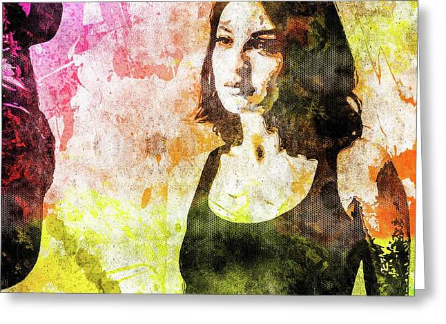 Maria Valverde Greeting Card by Svelby Art