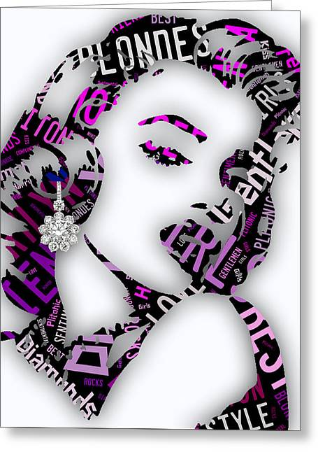 Marilyn Monroe Diamonds Are A Girls Best Friend Greeting Card