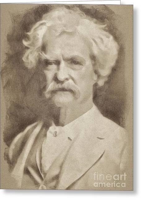 Mark Twain, Literary Legend Greeting Card