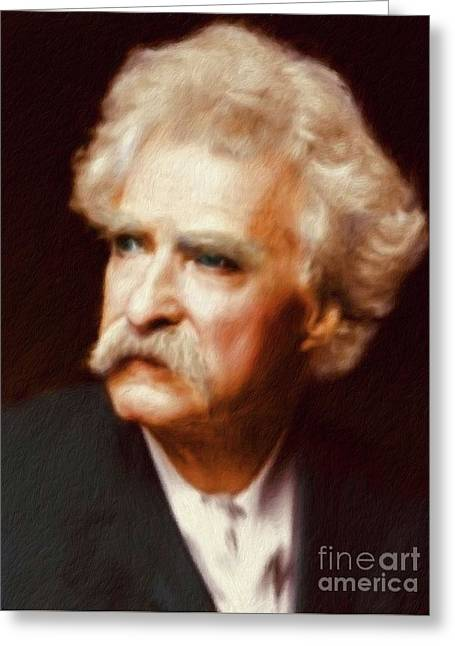 Mark Twain, Literary Legend Greeting Card