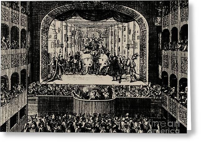 Markgrafentheater In Erlangen, 1721 Greeting Card by Johann Baptista Homann