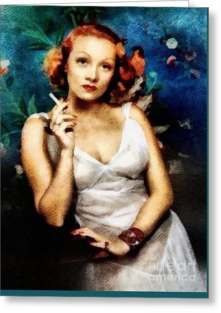 Marlene Dietrich, Vintage Actress Greeting Card
