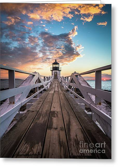 Marshall Point Sky Greeting Card by Benjamin Williamson