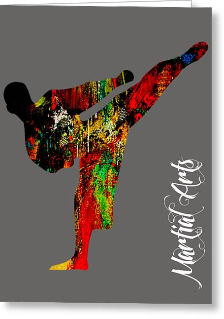 Martial Arts Collection Greeting Card by Marvin Blaine
