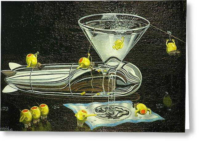 Martini Military Greeting Card by Charles Vaughn