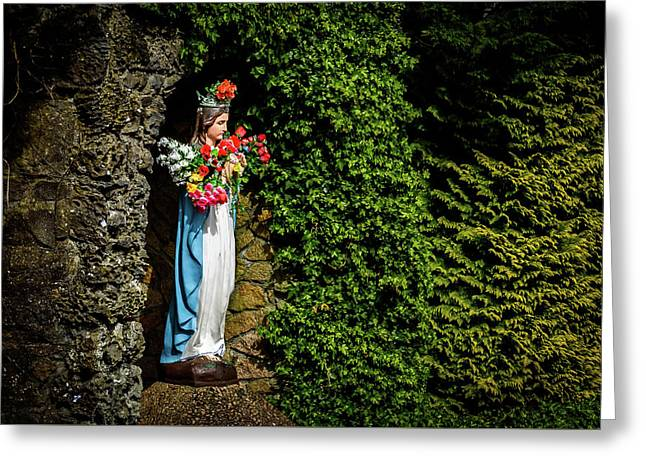Mary Statue - Knock Schrine - Knock Ireland Greeting Card