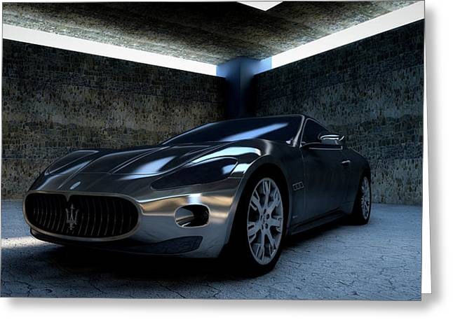 Maserati Gt Greeting Card by Piro4d