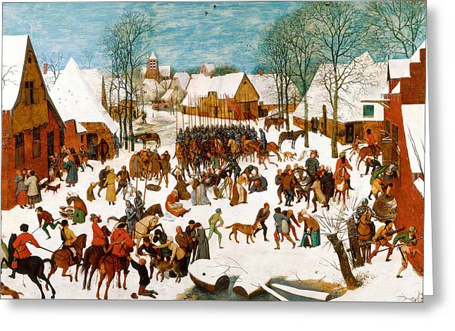 Massacre Of The Innocents Greeting Card by Pieter Bruegel the Elder