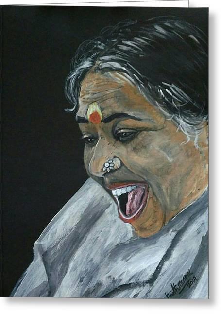 Mata Amrtanandamayi Devi Greeting Card