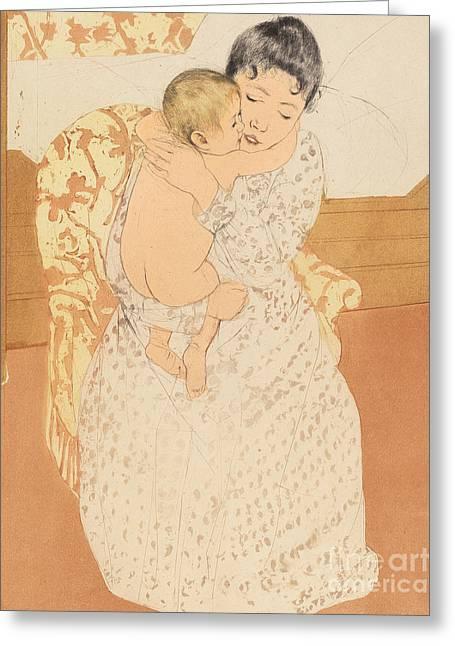 Maternal Caress Greeting Card