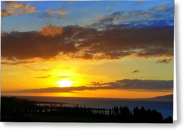 Maui Sunset At The Plantation House Greeting Card