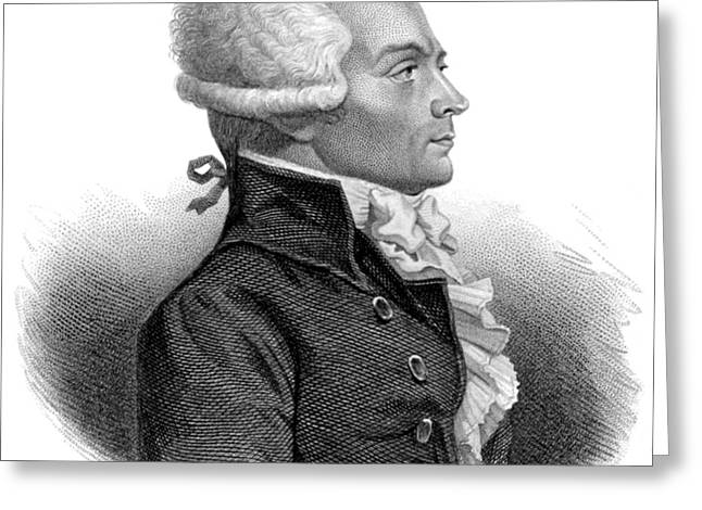 Maximilien Robespierre, French Greeting Card by Science Source