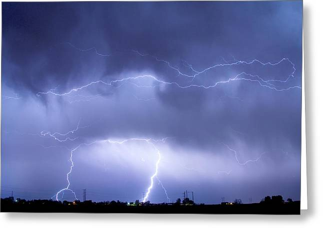 May Showers - Lightning Thunderstorm 5-10-2011 Greeting Card by James BO Insogna