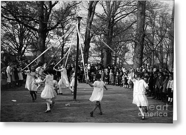 Maypole Dance, 1924 Greeting Card by Science Source