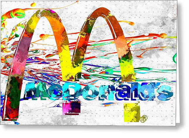 Mcdonald's Grunge Greeting Card by Daniel Janda