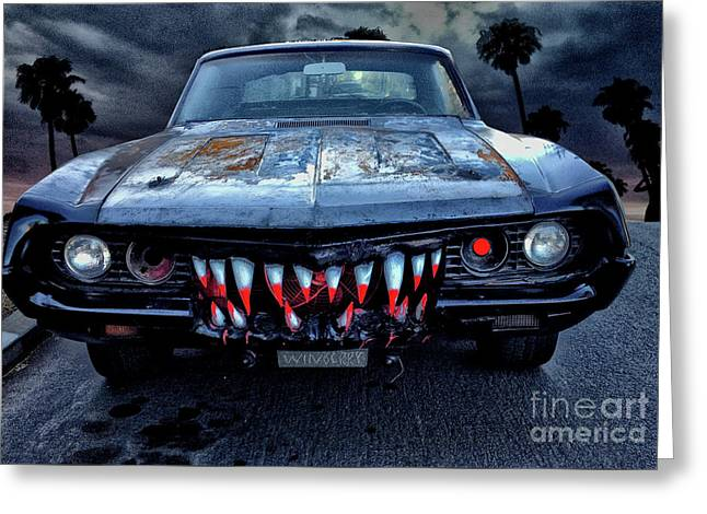 Mean Streets Of Belmont Heights Greeting Card by Bob Winberry