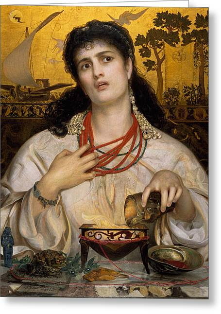 Medea Greeting Card by Frederick Sandys